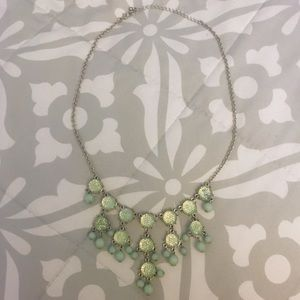 Charming Charlie Green Beaded Bib Necklace